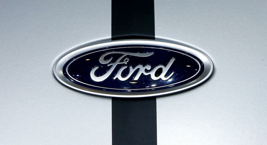 FILE PHOTO: The logo of Ford is seen during the 87th International Motor Show at Palexpo in Geneva, Switzerland March 8, 2017. REUTERS/Arnd Wiegmann/File Photo