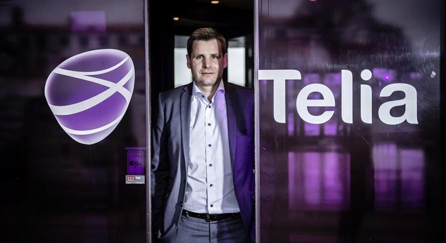 Telias topchef i Danmark, Morten Bentzen, står med en bedre forretning og er bedre til at holde på kunderne end før. Arkivfoto: Thomas Lekfeldt, Scanpix