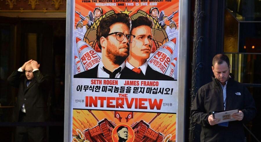 Sony Pictures har oven på det lammende hackerangreb aflyst premieren på den omstridte film »The Interview« om et mordforsøg på Nordkoreas diktator, Kim Jong-un. Arkivfoto: AFP/Scanpix