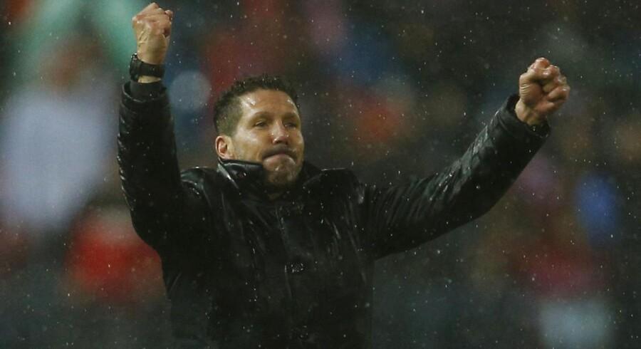 Atletico Madrids træner Diego Simeone var stolt af sine spillere efter sejren over Real Madrid onsdag.
