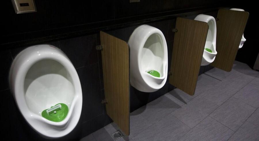 Urinaler i et indkøbscenter i Shanghai.