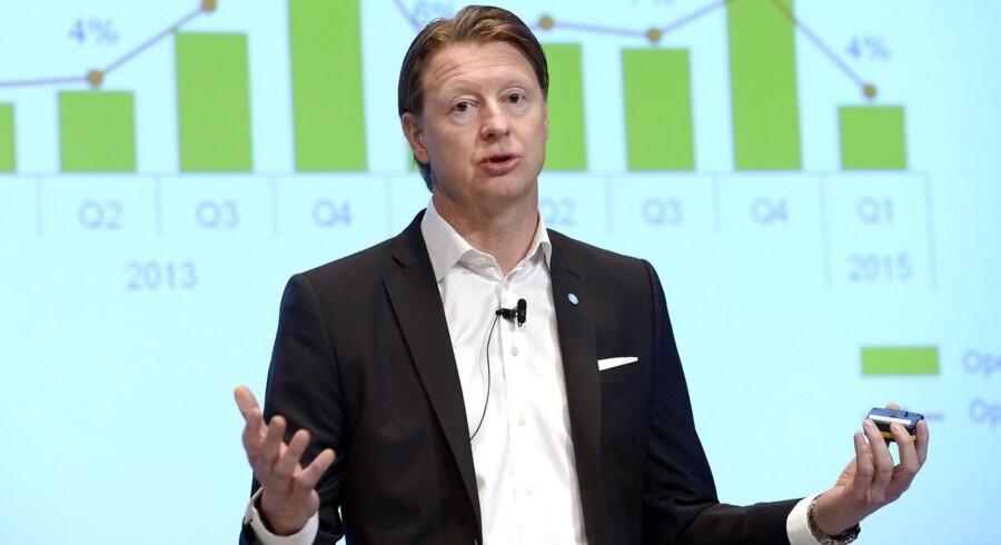 Ericssons topchef, Hans Vestberg, overrasker med et bedre regnskab end ventet. Arkivfoto: Fredrik Sandberg, AFP/TT/Scanpix