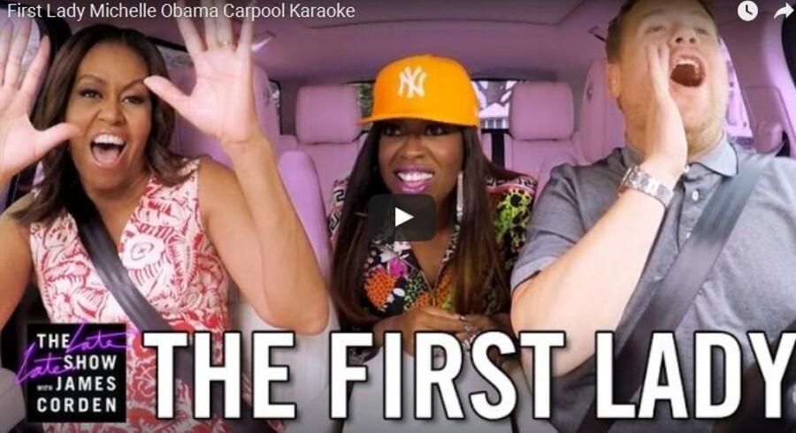 Carpool Karaoke er en del af James Cordens Late Late Show på CBS, og indslaget er populært. Den seneste episode, hvor Michelle Obama synger med, er blevet set mere end 32 millioner gange på under en uge. I alt er episoden set mere end 800 millioner gange på YouTube.