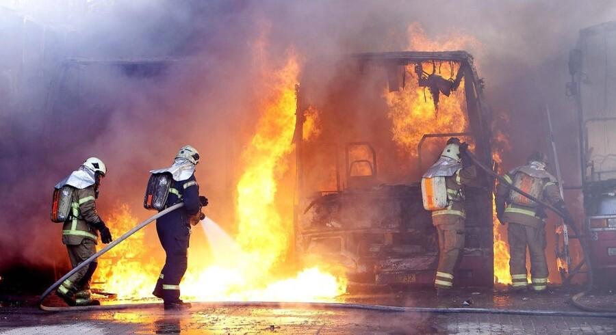 Arkiv: Brand i busser