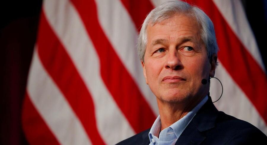 Jamie Dimon, CEO i JPMorgan Chase, er den sidste tilbageværende, amerikanske bankboss fra finanskrisedagene. REUTERS/Brian Snyder/File Photo
