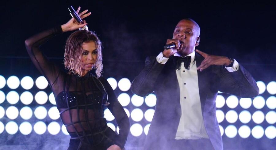 Rapkongen Jay Z og hustruen Beyonce Knowles