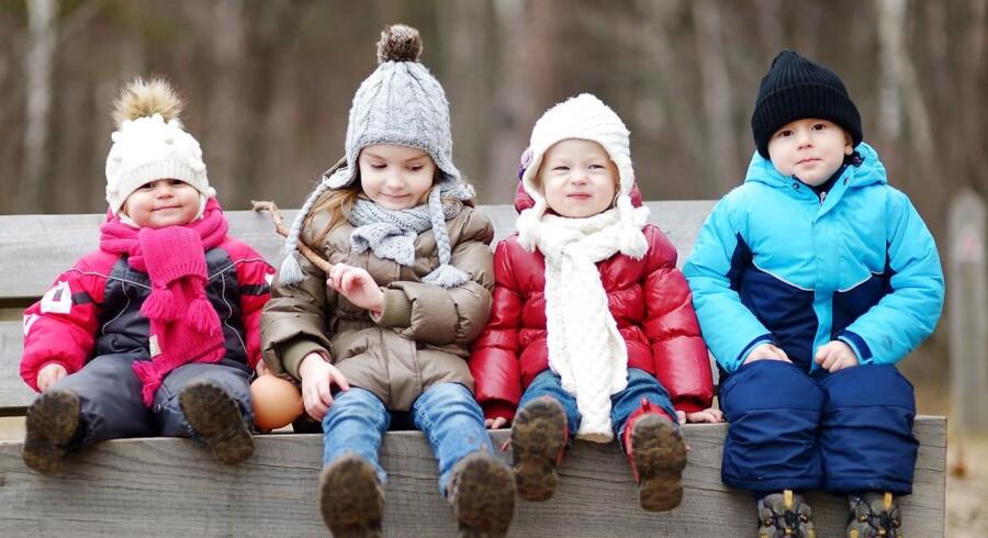 Halvdelen af de danske børnehavebørn oplever, at de bliver drillet af andre børn, så de bliver kede af det. Alligevel nyder omkring ni ud af ti af børnene at gå i børnehave. Foto: Iris.
