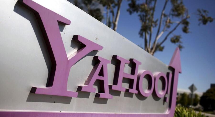 Internetgiganten Yahoo er presset og har problemer med at finde måder at sikre fremgang på. Nu skal det derfor drøftes, om selve Yahoos kerneforretning på nettet skal sælges. Arkivfoto: Robert Galbraith, Reuters/Scanpix