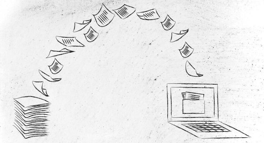 Papirblanketter er for dyre i brug og giver fejlmuligheder, når alle oplysninger skal tastes ind igen. Derfor skal danskerne fra 1. december betjene sig selv på endnu 23 områder hos det offentlige. Arkivfoto: Iris/Scanpix