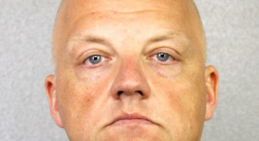 Det såkaldte »mugshot«, som politiet i Miami har knipset af Oliver Schmidt efter anholdelsen i wekeenden.
