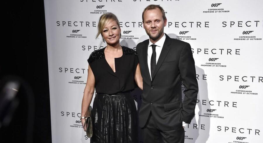 Arkivfoto: Maria Montell og Thomas Villum ankommer til gallapremiere på den nye James Bond-film Spectre tirsdag d. 27 oktober 2015 i Imperial Bio i København.(Foto: Erik Refner/Scanpix 2015)