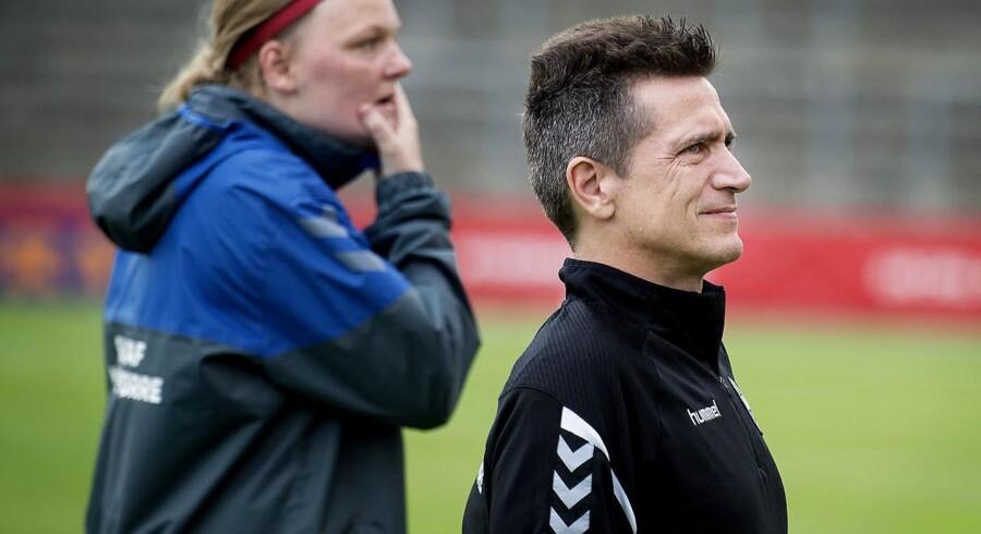 Danmarks Landstræner Nils Nielsen. (Foto: Liselotte Sabroe/Scanpix 2017)