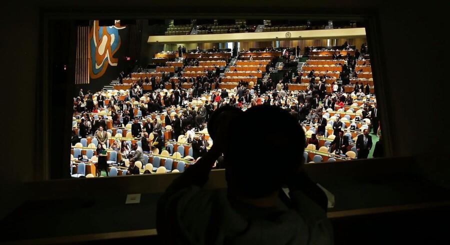 Det er med vue udover dette lokale, at Mogens Lykketoft skal holde styr på verdens lande og FN's generalforsamling.