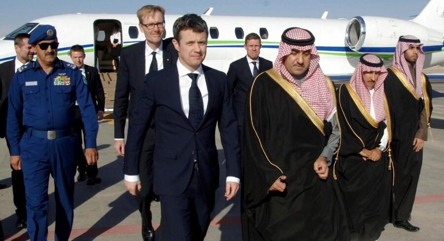 Kronprinsen var lørdag i Saudi-Arabien.