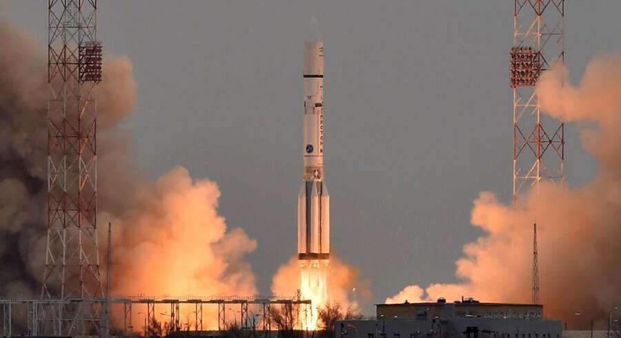 Raketten kom godt fra land.