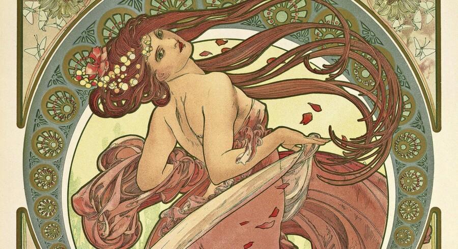 Alphonse Mucha »Kunsten: Dans« fra 1898 var som flere andre af hans billeder en del af en serie. I samme serie skabte han allegorier over musikken, poesien og maleriet. Pressefoto