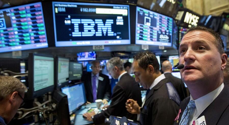 IBM (International Business Machines) levede ikke op til analytikernes forventninger med sit 4.-kvartalsregnskab, så aktien tog et dyk. Foto: Brendan McDermid, Reuters/Scanpix