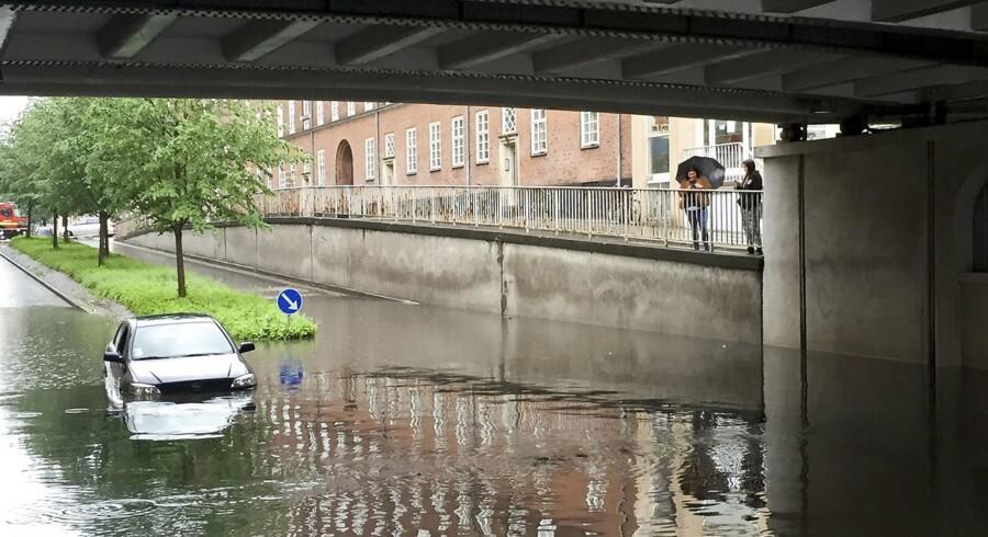 Oversvømmelse ved Lindevang Station.