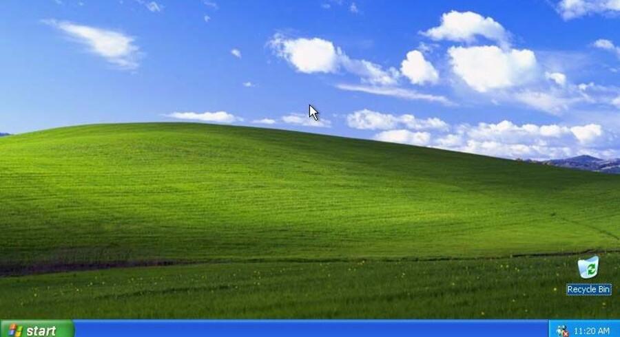 Nostalgi for alle pengene: Windows XP-startskærmen, som den har set ud siden 2001. Foto: Microsoft
