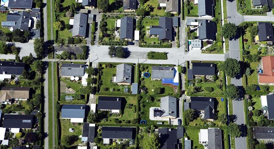 Arkivfoto: Villakvarter set fra luften.