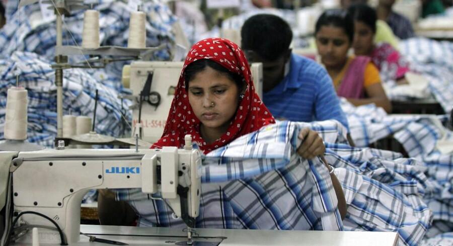 Arkivfoto fra tilfældig fabrik i Bangladesh.