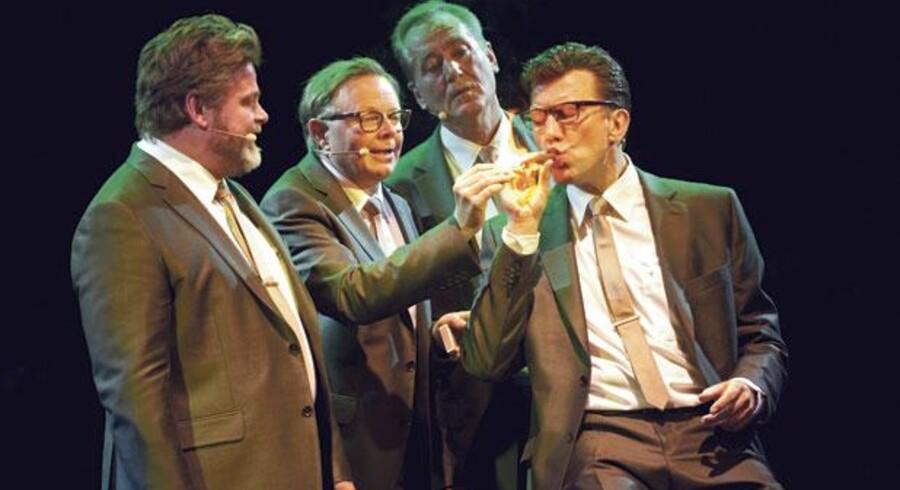 Stig Rossen, Jesper Asholt, Kjeld Heick og Jesper Lohmann er på scenen med en ny ombæring af Four Jacks. Foto