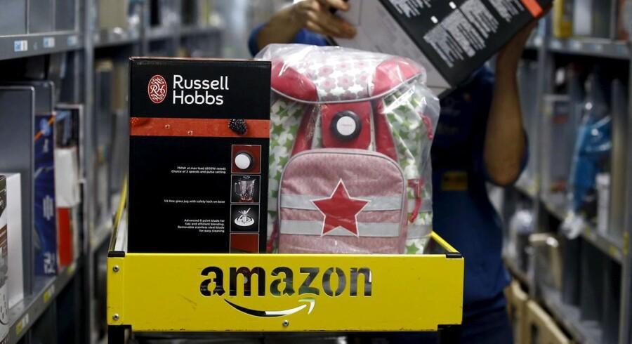 Amazon-aktien styrtdykkede 13,4 pct. i eftermarkedet efter en stigning i den ordinære børstid på 8,9 pct.