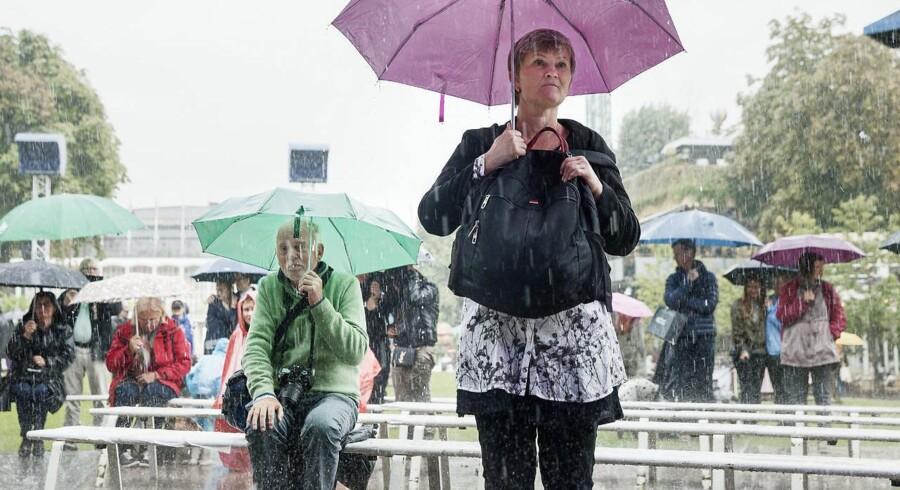 På landsbasis er der faldet 134 mm regn fra 12. juni og frem til mandag morgen, oplyser DMI-klimatolog Mikael Scharling, og det er nok til at placere perioden som den tredje-vådeste af slagsen siden årtusindskiftet. Kun 2002 og 2007 var endnu mere regnfulde i samme periode. Arkivfoto.