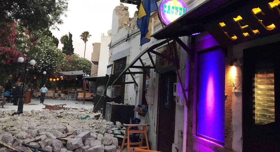 Flere danske turister oplevede nattens jordskælv på ferieøen Kos.