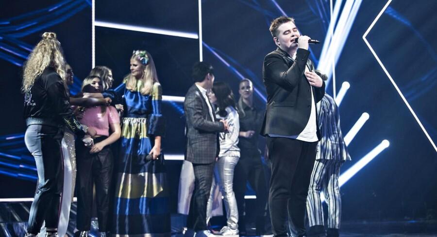 X Factor finale den 31. marts 2017. Her er vinderen Morten Nørgaard.. (Foto: Ida Guldbæk Arentsen/Scanpix 2017)