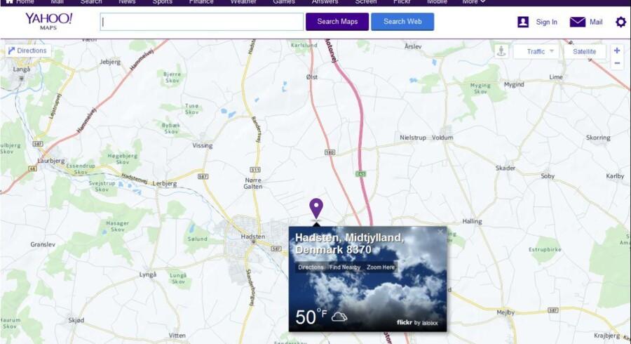 Yahoo lukker sin korttjeneste, Yahoo Maps, med udgangen af juni.