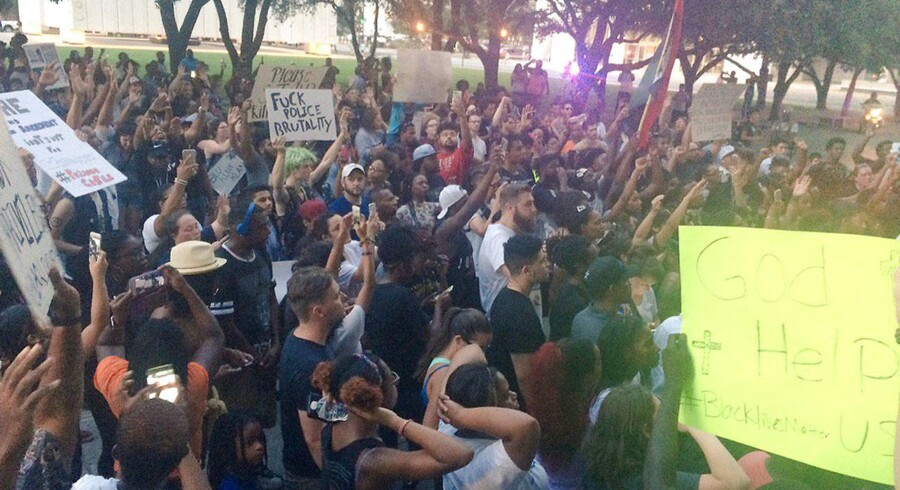Demonstration i Dallas.