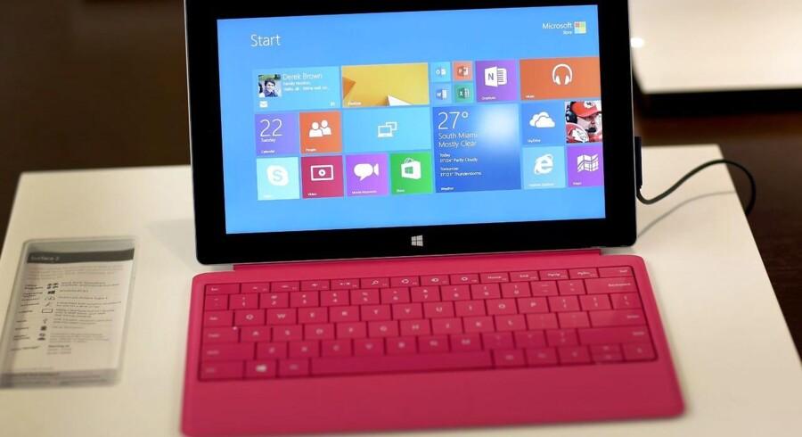 Microsoft har i denne uge lanceret sin Surface 2-tavlecomputer, og snart kommer den nye Xbox One-spillekonsol, som begge skal sikre en bedre fremtid for verdens største softwareselskab. Arkivfoto: Joe Raedle, AFP/Scanpix