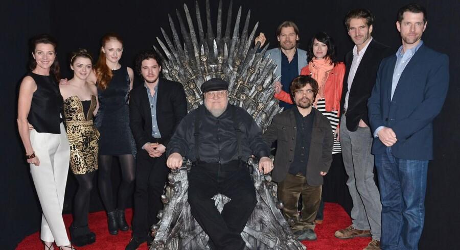 Arkivfoto fra Game of Thrones præmieren i 2013. Se Hafthór Björnsson styrkebedrift i nedstående video.