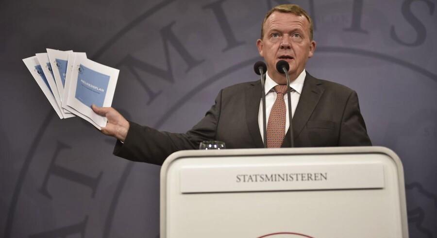 Pressemøde. Statsminister Lars Løkke Rasmussen (V) præsenterer tirsdag den 30. august regeringens Helhedsplan  for et stærkere Danmark.