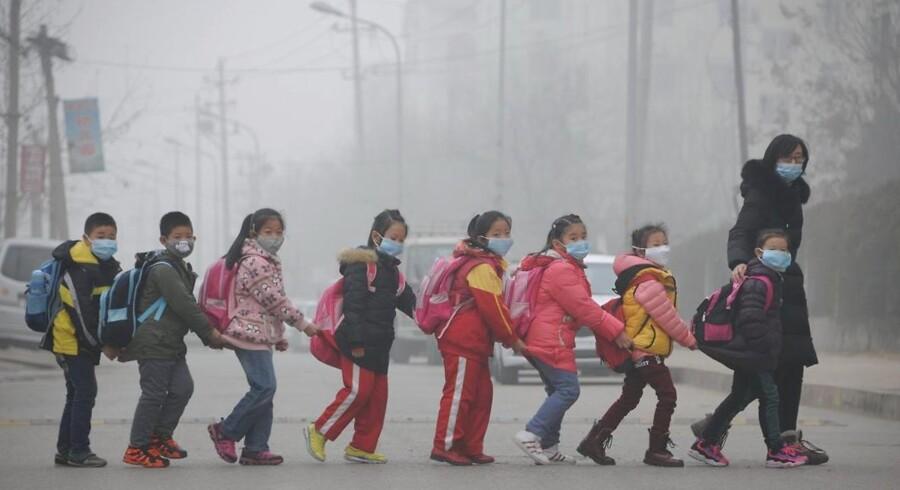 I de kinesiske storbyer er smog et tilbagevendende problem.