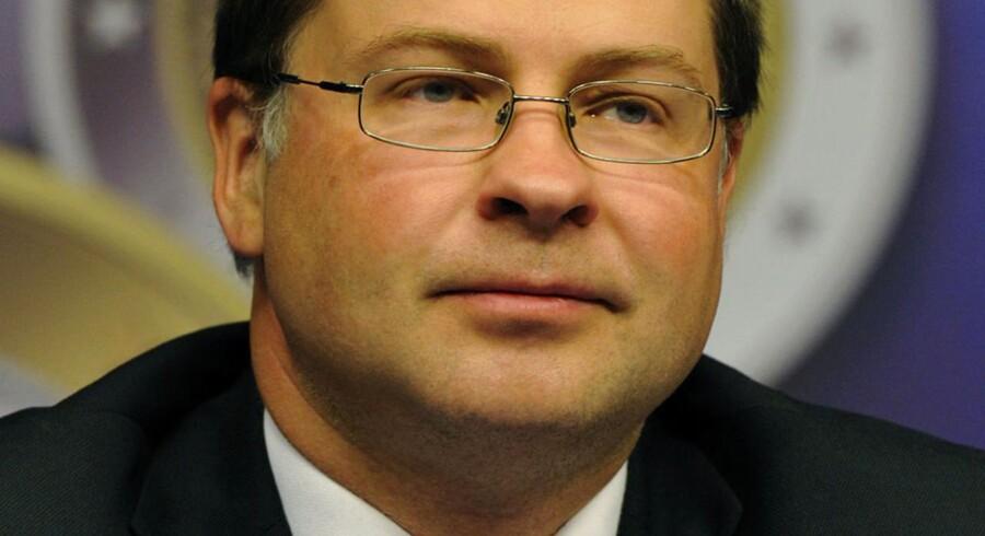 Den nye EU-kommissær for den finansielle stabilitet i Europa, Valdis Dombrovskis.