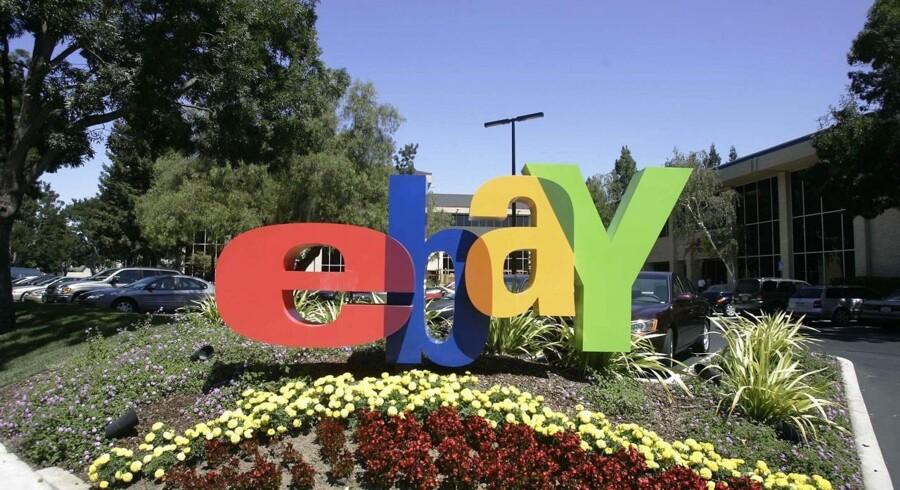 Internetauktionshuset eBay bliver nu splittet op i tre dele, og måske bliver flere af dem solgt fra. Arkivfoto: Hector Mata, AFP/Scanpix