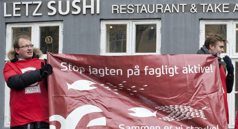 3F demonstrerer foran Letz Sushi