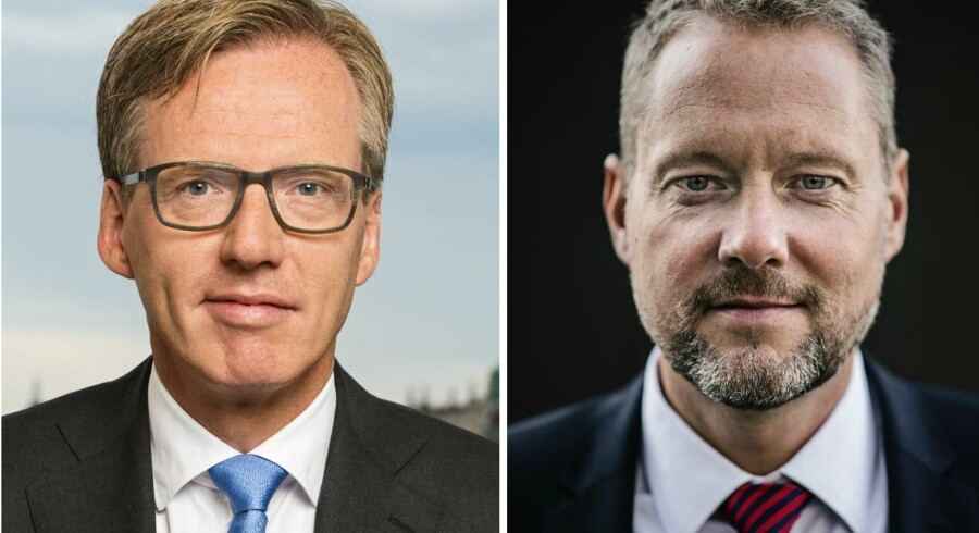 Nordeas næstkommanderende, COO Torsten Jørgensen (t.v.). Bankdirektør i Nordea Danmark, David Hellemann (t.h.). Fotos: Nordea.