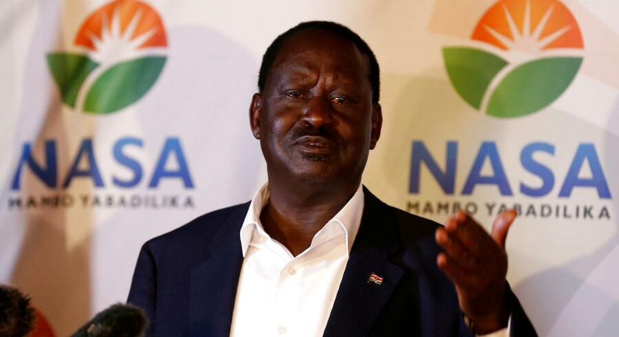 Kenyan opposition leader Raila Odinga, the presidential candidate of the National Super Alliance (NASA) coalition.