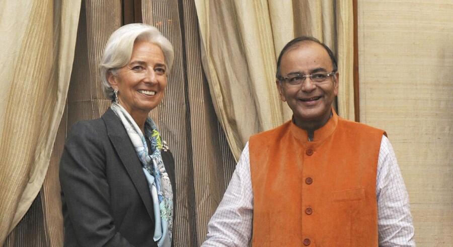 Christine Lagarde og Indiens finansminister Arun Jaitley