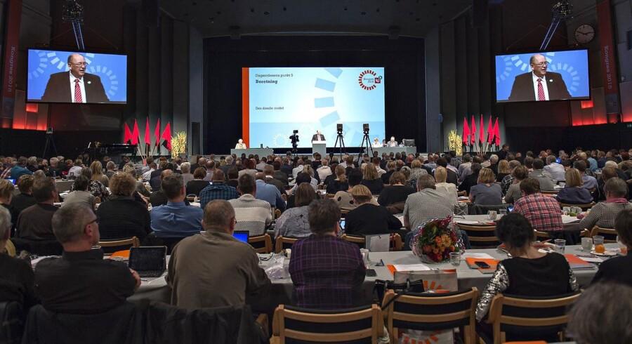 I gennemsnit bruger en delegeret 3.100 kr. pr. døgn på overnatning, mad og drikke, transport, shopping og fornøjelser. 101.000 forventede kongresgæster vil give 400.000 overnatninger og en samlet omsætning på ca. 1,2 mia. kr. Arkivfoto fra LO's kongres i Aalborg Kongres og Kulturcenter.