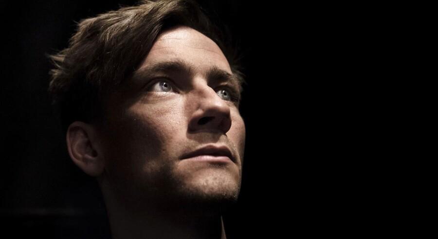 Portræt af skuespilleren Esben Smed. Fotograferet i teatret Republique.