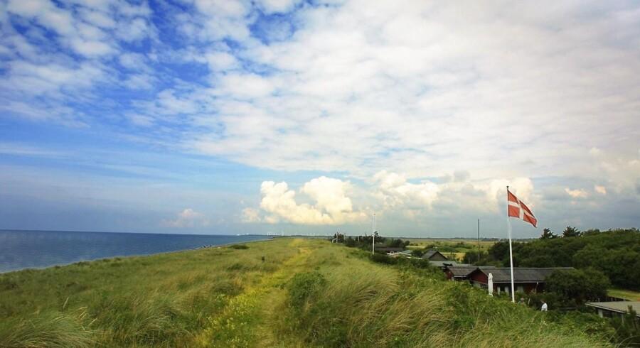 Den skattefrie bundgrænse for udlejning af sommerhuse skal hæves til 30.000, mener DF. Arkivfoto fra Hyllekrog på Lolland.