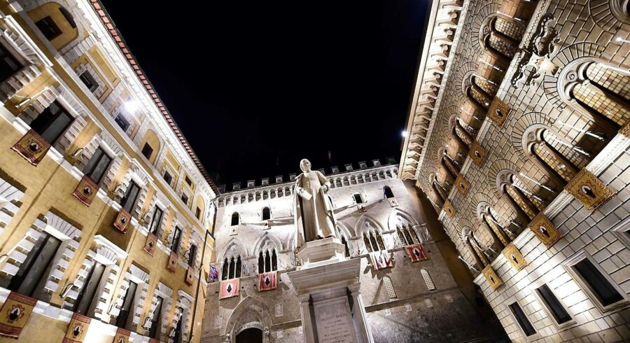 Billede: Hovedkvarteret for den italienske bank, Monte Dei Paschi de Siena.