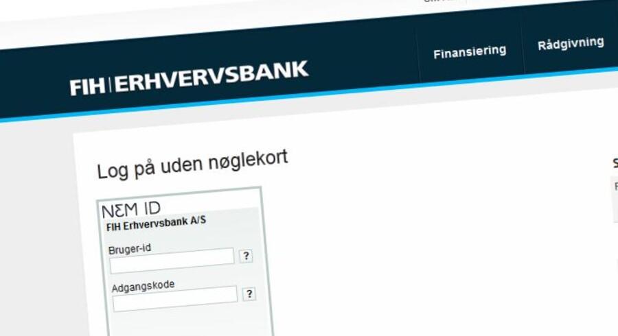 FIH Erhvervsbank indfører negative renter på indlån.