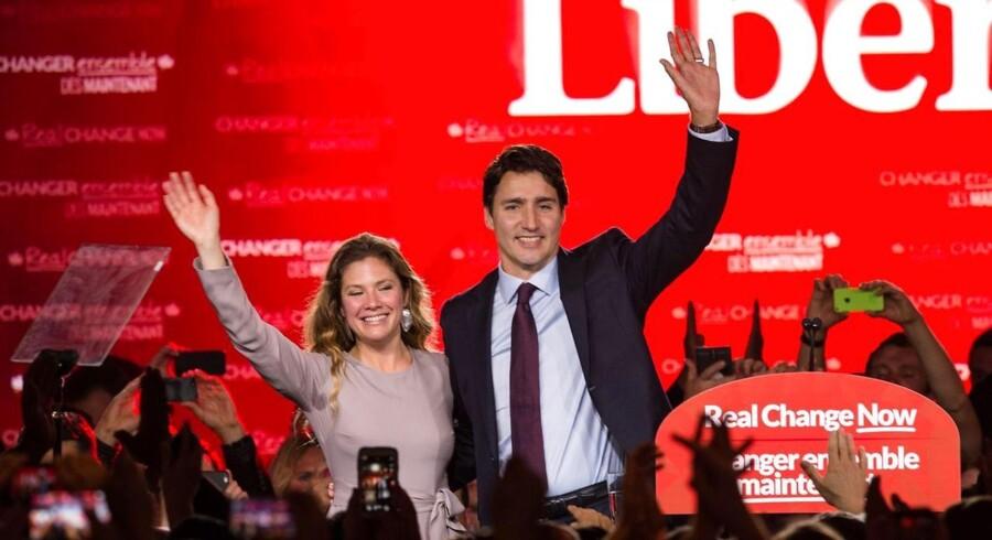 Justin Trudeau fejede al modstand til side og kan sammen med sin kone, den tidligere TV-vært Sophie Grégoire, flytte ind i sit barndomshjem, premierminister-boligen. Foto: Nicholas Kamm/AFP