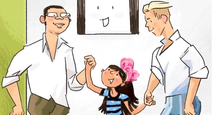 """Illustrationer i Signe Fjords børnebog """"Hvem henter mig?"""" er tegnet af Sune Watts."""