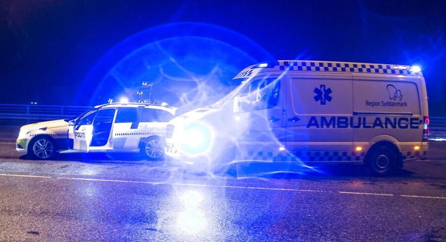 Arkivfoto: En mandling bilist kørte torsdag galt i Fensmark på Sydsjælland.